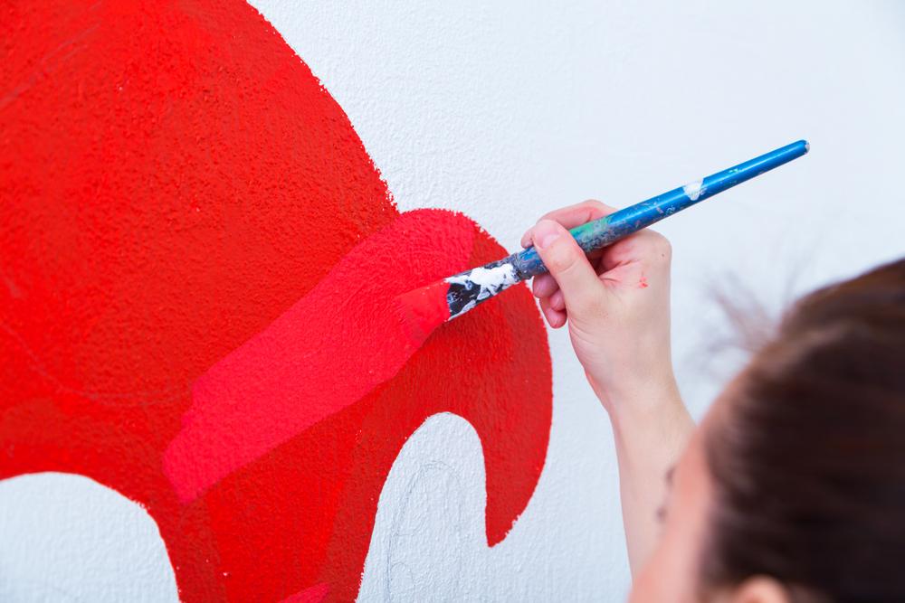 acrylfarbe-auf-wand